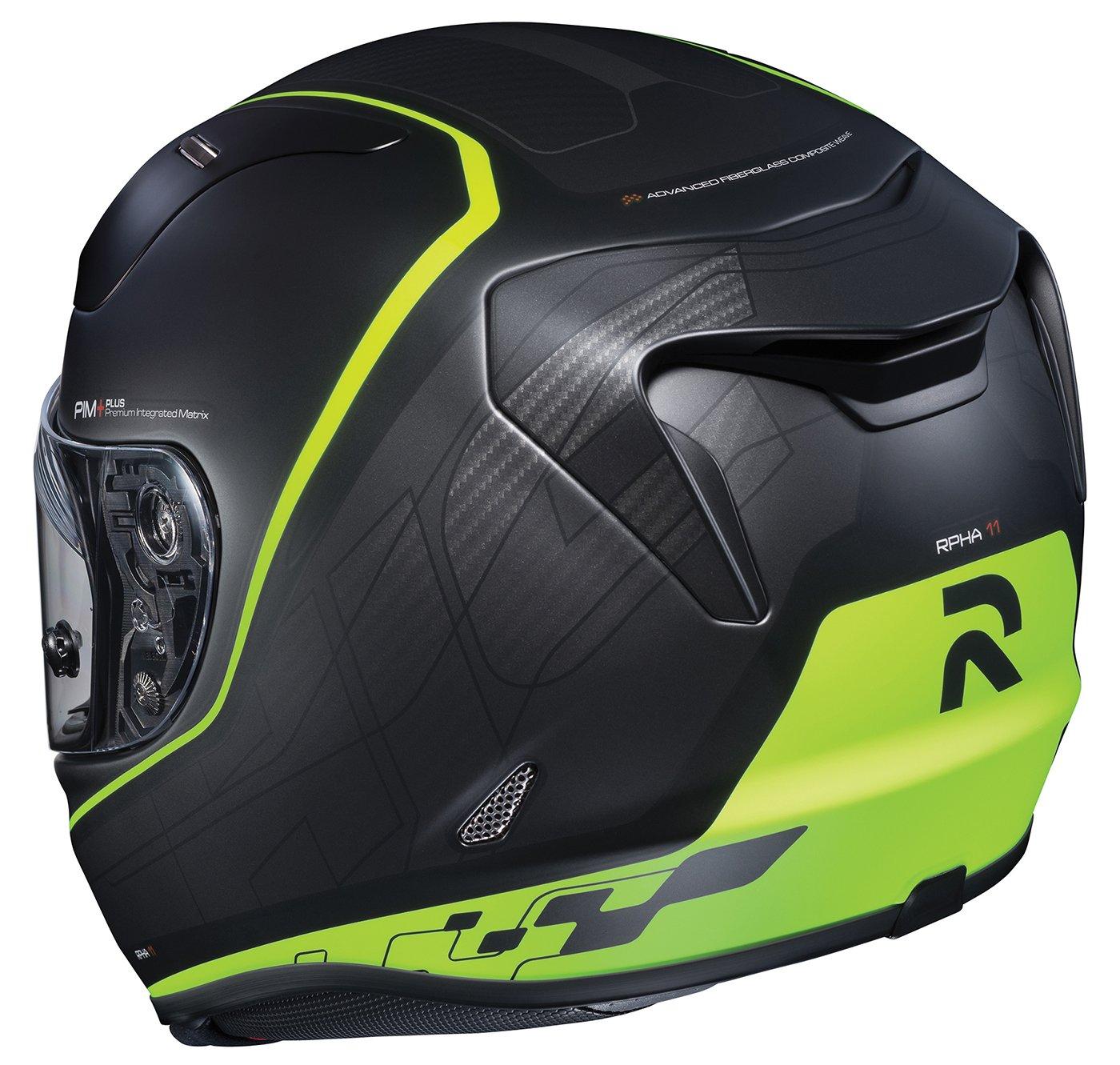 1652-735 HJC Helmets Unisex-Adult Full-Face-Helmet-Style RPHA-11 Pro Riberte Helmet MC-4HSF Black//Hi-Vis, X-Large