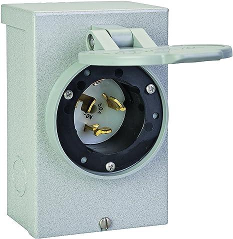 Reliance Controls Corporation PBN50 50-Amp NEMA 3R CS6375 Power Inlet Box for Generators Up to 12,500 Running Watts