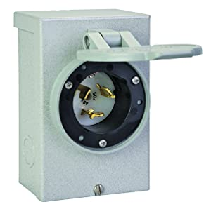 Reliance Controls Corporation PB50 50-Amp NEMA 3R Power Inlet Box, 50-Amp for Generators Up to 12,500 Running Watts