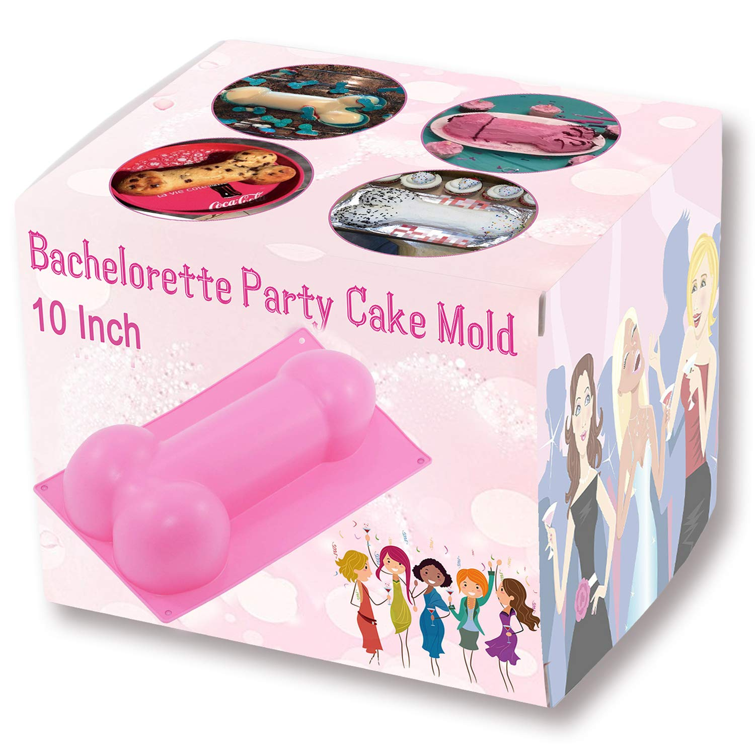 Bachelorette Party Mold 10 Inch - Upgraded Version - Non-stick Heat Resistance Silicone Cake Pan for Bachelorette Party Favors, Supplies, Gifts and Decorations (Blue) by Hinmay Hinmay Home