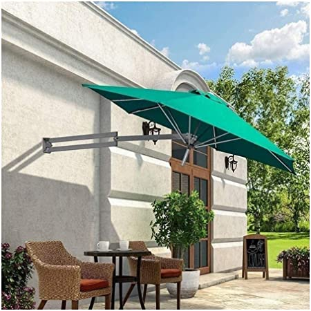 Sombrillas de jardín para Patio Toldos para sombrillas Sombrillas portátiles Sombrilla de Aluminio de Pared para Patio - Jardín al Aire Libre Balcón Sombrilla inclinable Sombrilla (Verde): Amazon.es: Hogar