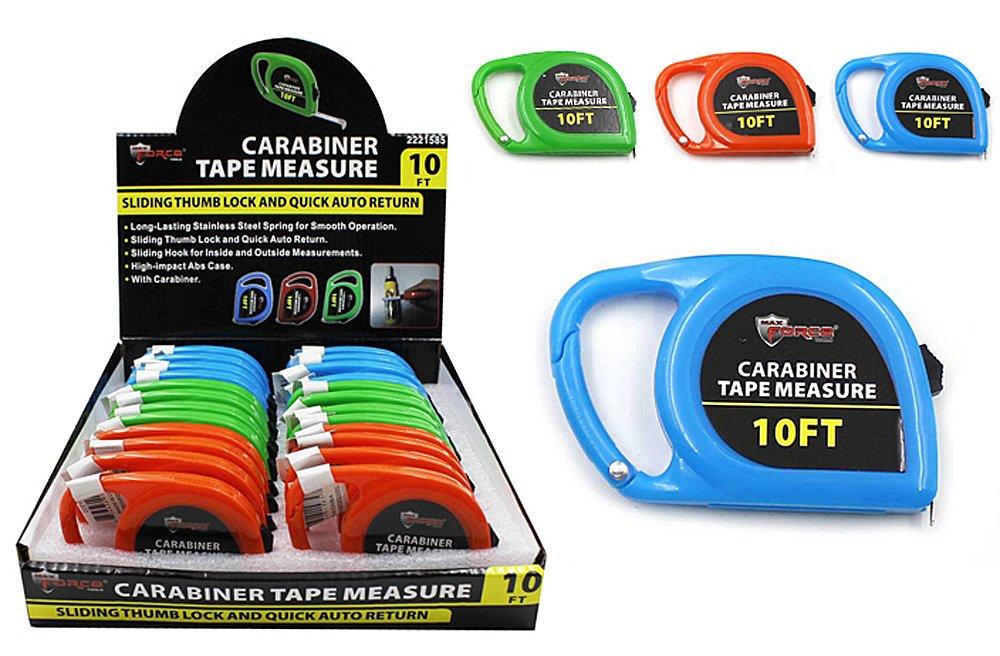 Max Force Diamond Visions 2221585 Carabiner Tape Measure Set in Assorted Colors 4 Tape Measures