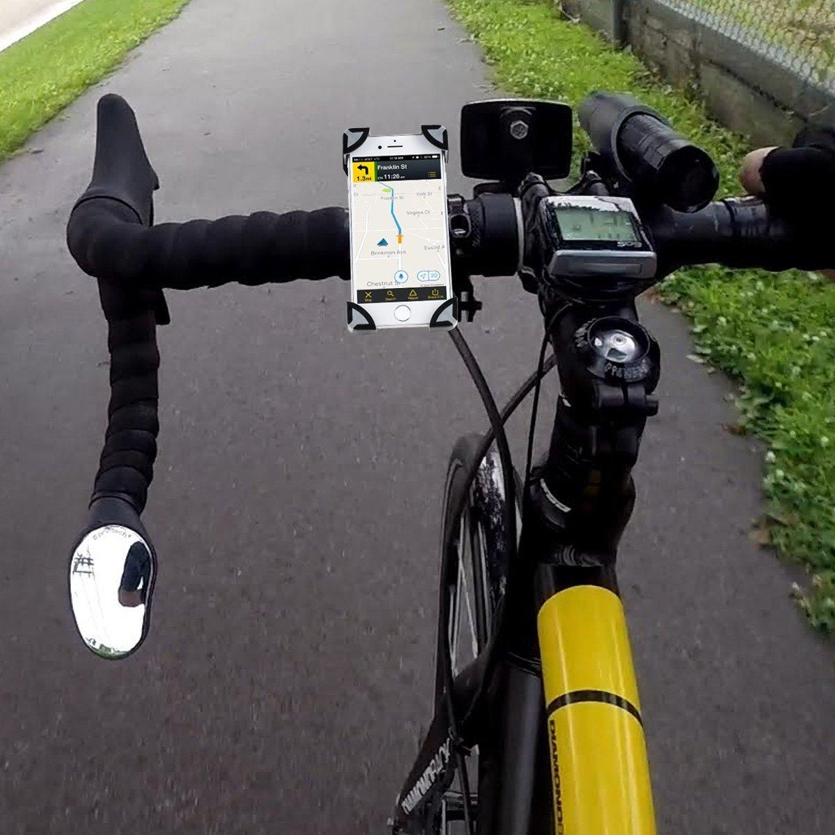 Sumsung Galaxy S8//S9 et Autres Vert//Noir Universel Support V/élo T/él/éphone R/églable Support VTT Rotatif /à 360 pour T/él/éphone de 4-6,5 Pouces pour iPhone X//8//8 Plus SKYEE Support V/élo Smartphone