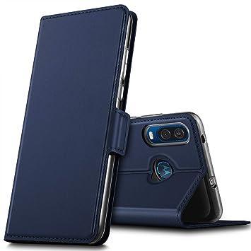 GEEMAI Diseño para Motorola One Vision Funda, PU Funda Multi ...