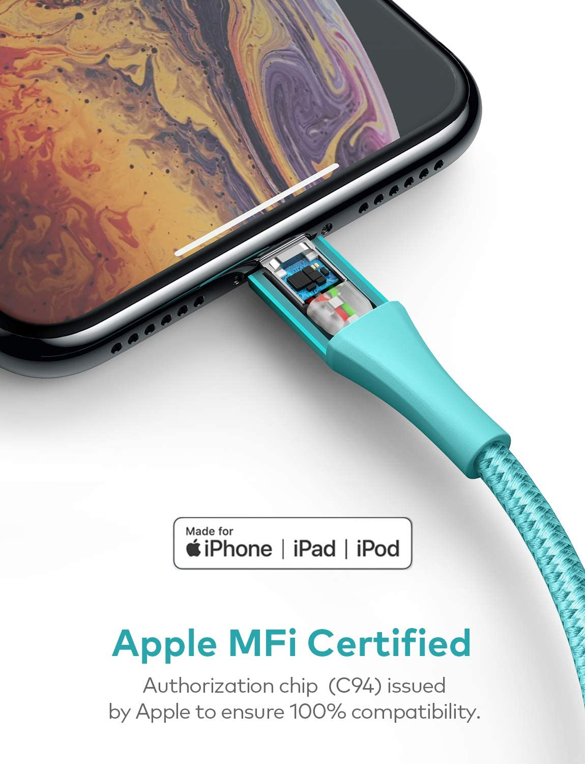 6ft Apple MFi Certified Nylon Braided Cable for iPhone 11//11 Pro//11 Pro Max//XS Max//XS//XR//X//8//8 Plus Silver iPhone 11 Charger Xcentz USB C to Lightning Cable Fast Charging Support Power Delivery