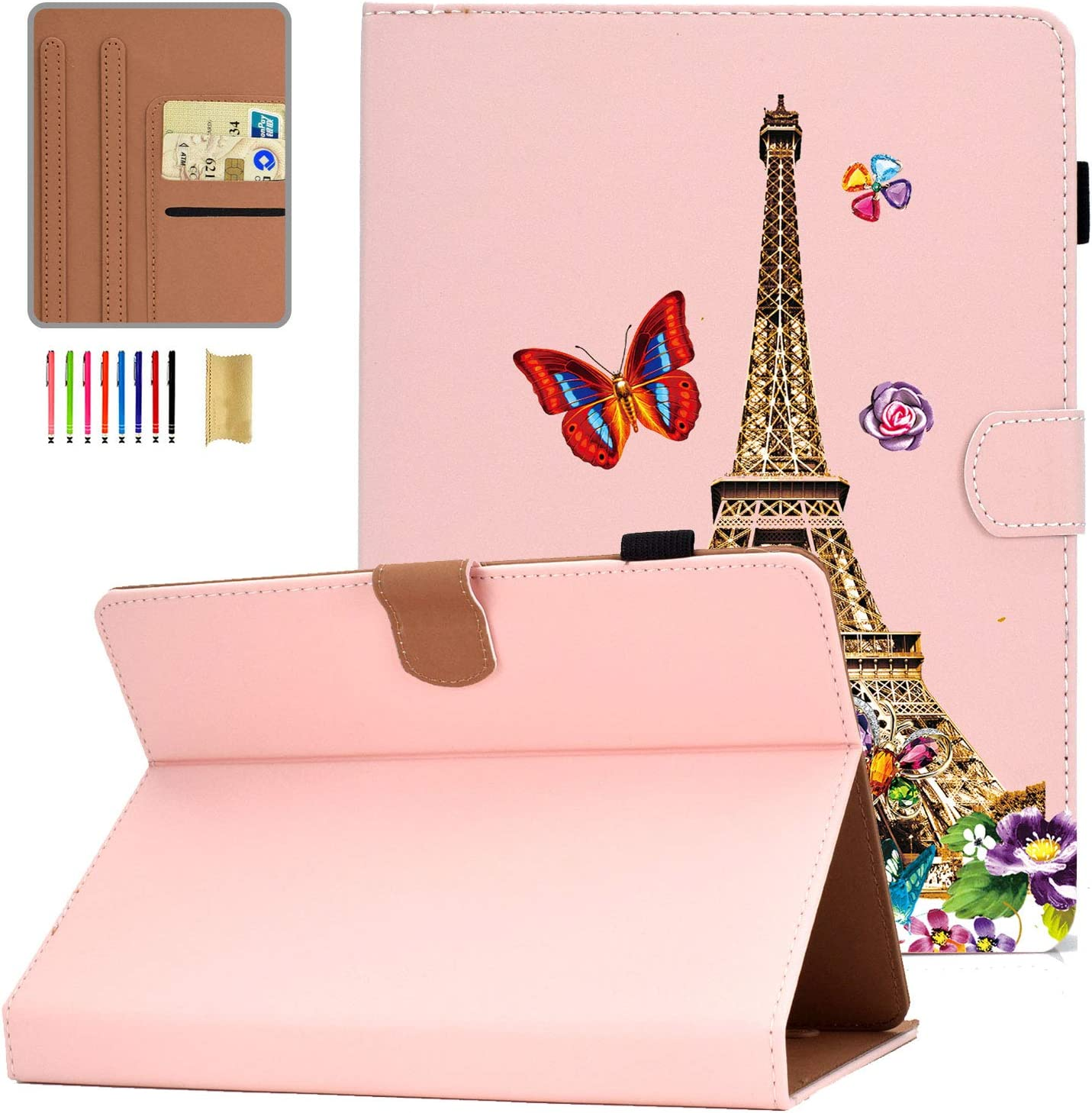 Universal Case for 9-10 inch Tablet, APOLL Synthetic Leather Universal 10