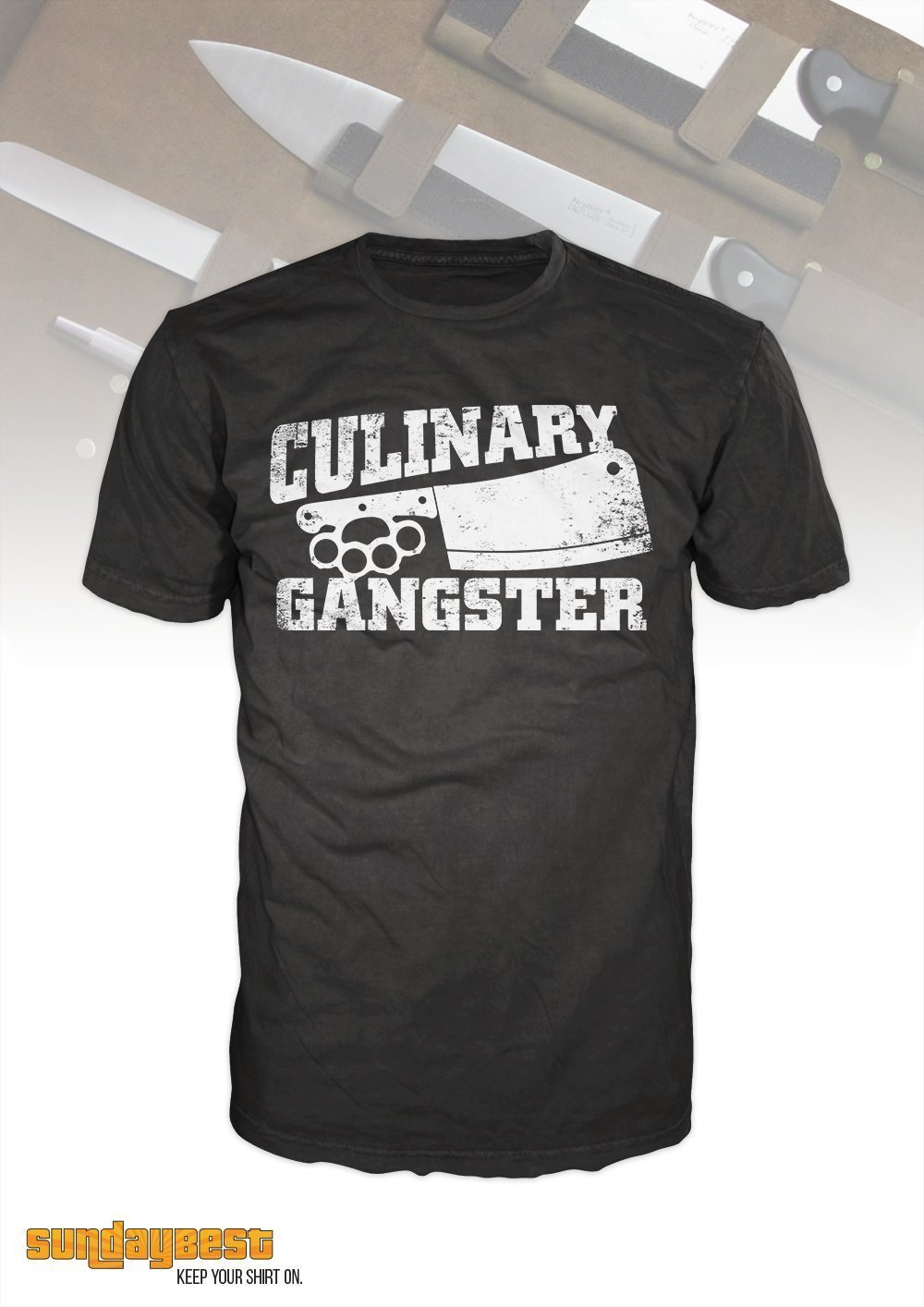 c9c12c5b6 Amazon.com: Gift for Chefs, Funny Chefs T-Shirt Culinary Gangster - Line  and prep cook, foodie, mens, womens: Handmade
