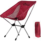 Lightweight Portable Folding Camping Chairs, 330 lbs Capacity Backpacking Beach Chair w/ Carry Bag Compact Heavy Duty Outdoor Travel Sports Lawn Chairs Unique for Hiking Fishing Picnic by ALPRANG