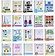 Aibecy 20 pcs / pack Papier Modèles pour la création de stylo d'impression 3D Peut être utilisé à plusieurs reprises