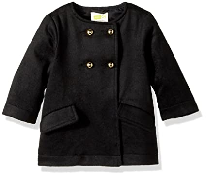 2292cb8fe Amazon.com: Crazy 8 Girls' Toddler Black Peacoat: Clothing