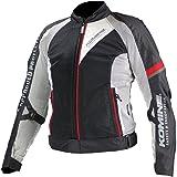 コミネ(Komine) バイクジャケット クールメッシュジャケット-ビスマルク ブラック/シルバー XL 07-098 JK-098