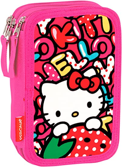 Estuches Multicolor Hello Kitty: Amazon.es: Oficina y papelería