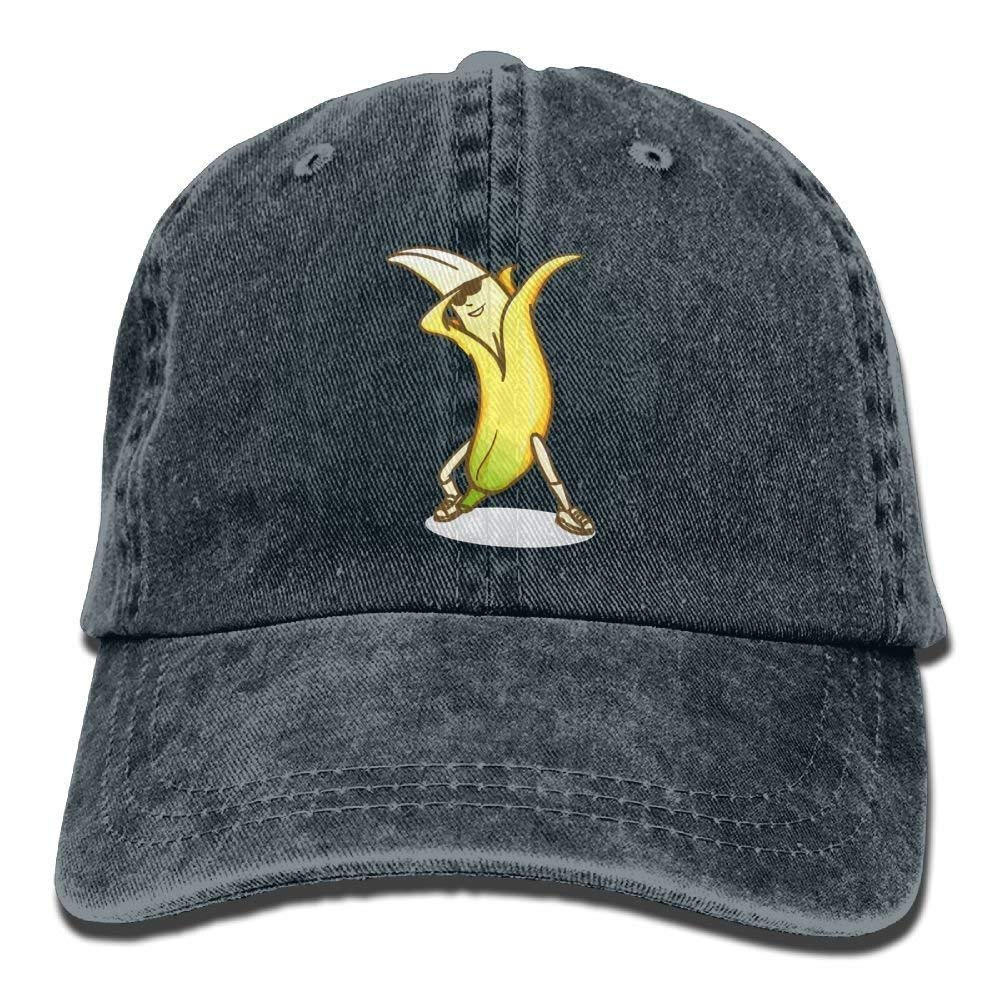 Cap New Dabbing Bananas Denim Hat Adjustable Mens Dad Baseball Hat