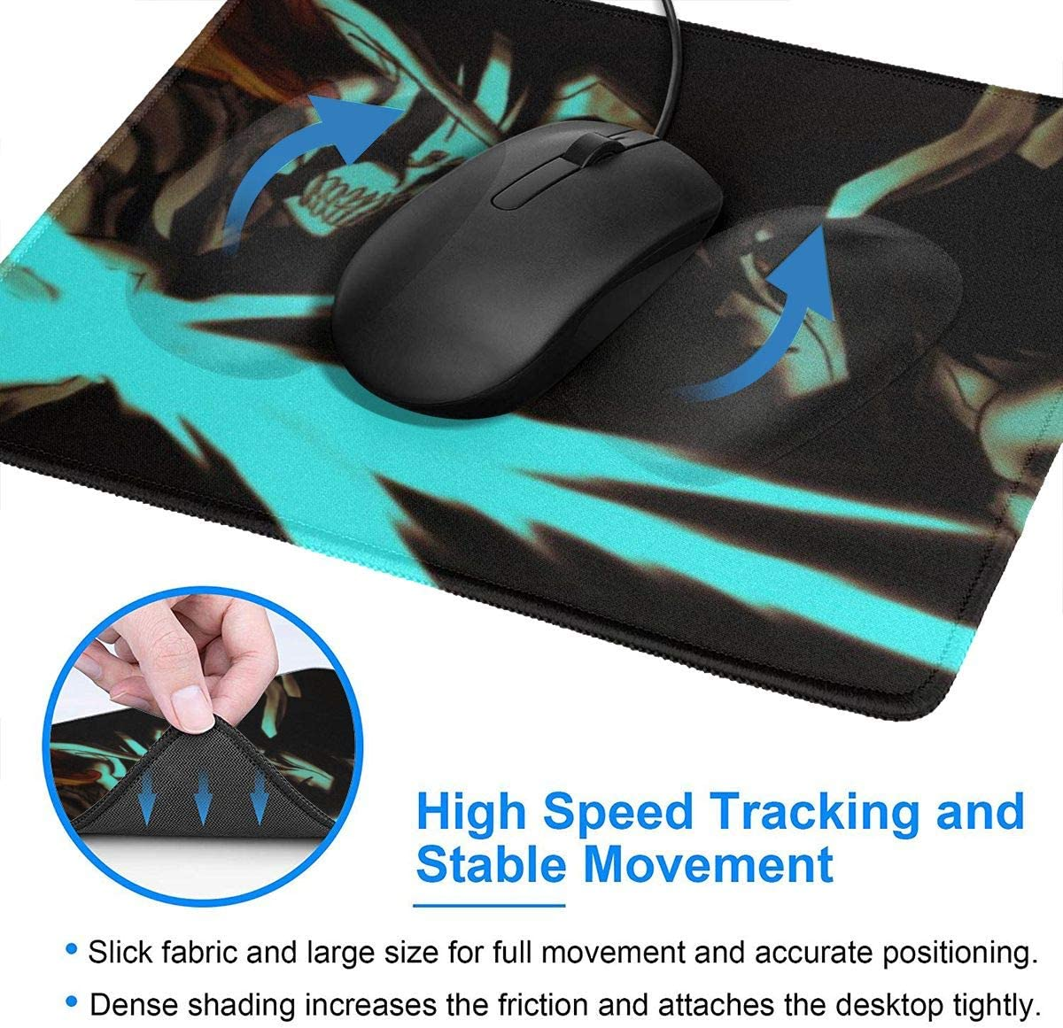 Office Ideal for Desk Cover Laptop and PC 7 X 8.6 Inch Large Mouse Pats Stitched Edges Anime Bleach Gaming Mouse Mat Pad Unique Custom Mousepad Computer Keyboard