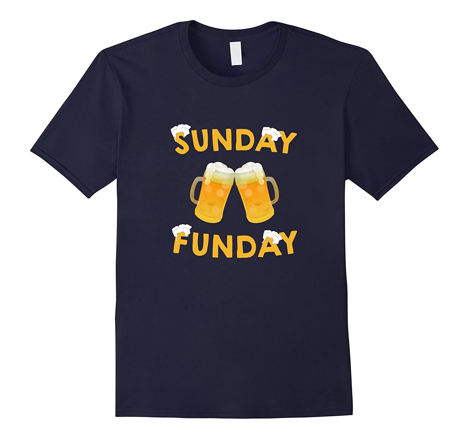 Sunday Funday T Shirt - Funny Men's Drinking Beer-Art