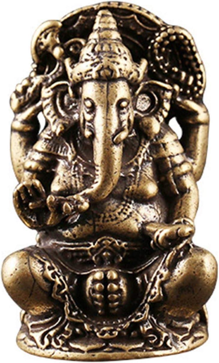 2Mini Lord Ganesh Statue Ganesha Statue Hindu Elefant Figur in Premium Cold Cast Messing
