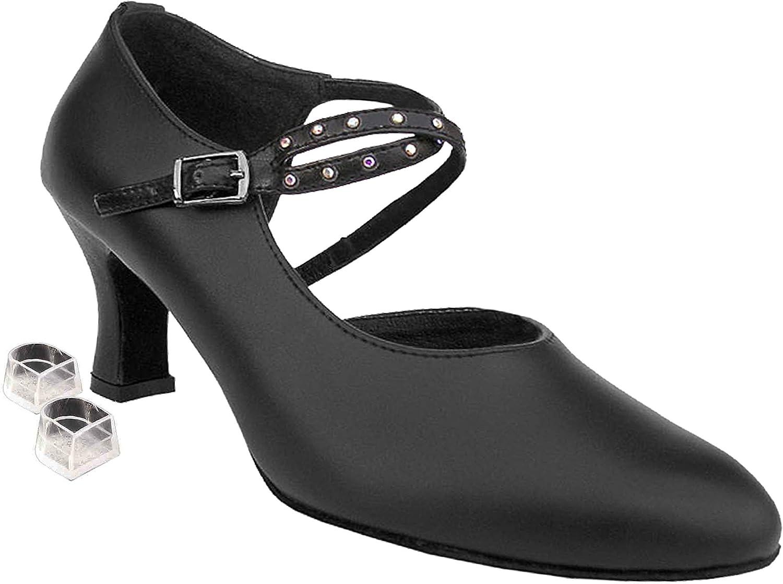 [Very Fine Shoes] レディース B00CG407K6 ブラックレザー 5 (B,M) US