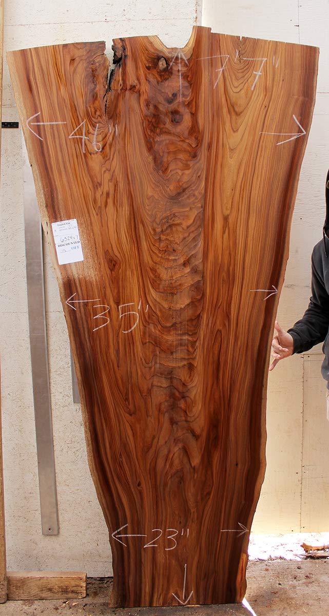 Live Edge DIY Desk English Elm Natural Raw Wood Slab Custom Rustic Tabletop Wooden Furniture Kitchen Island Unfinished 6324x7