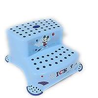 Plastimyr Mickey - Taburete con doble escalón, color azul