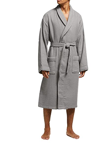Allure Bath Fashions Unisex Towelling Spa Quality Robe 100% Cotton  Honeycomb Waffle   Terry Towel 46f58be11