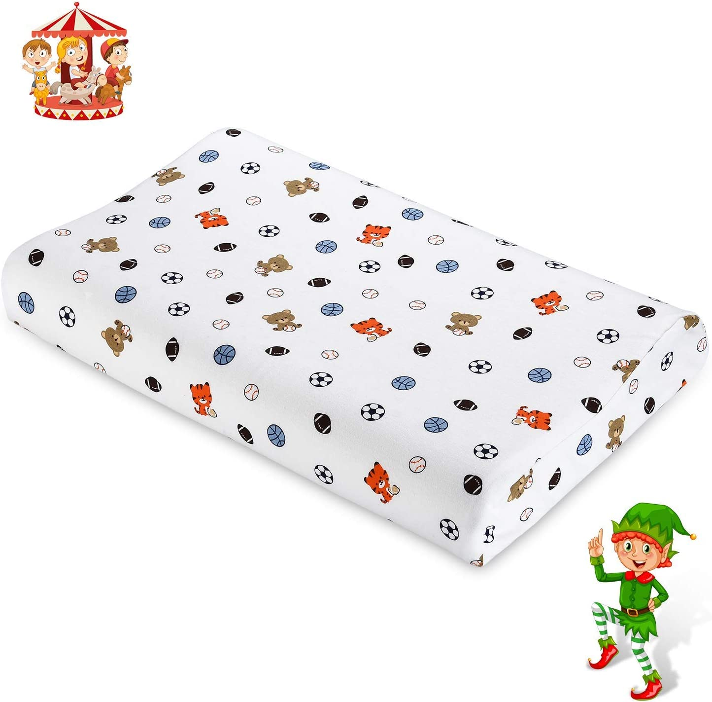 UUQ Kids Latex Pillow for Neck Support