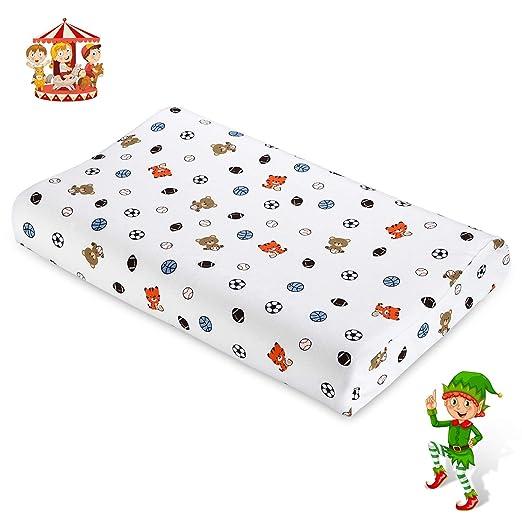 Almohada para bebés UUQ, almohada para Niños para prevenir la plagiocefalia de cabeza plana, almohada de látex para recién nacidos con funda lavable, ...