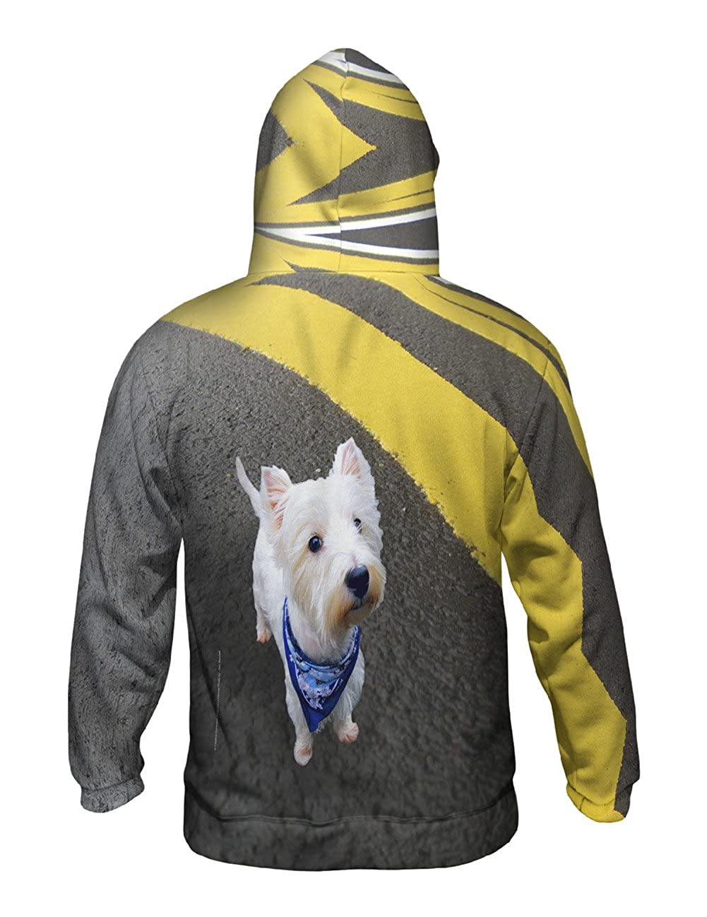 Asphalt Kicking Westie Yizzam Mens Hoodie Sweater Allover Print