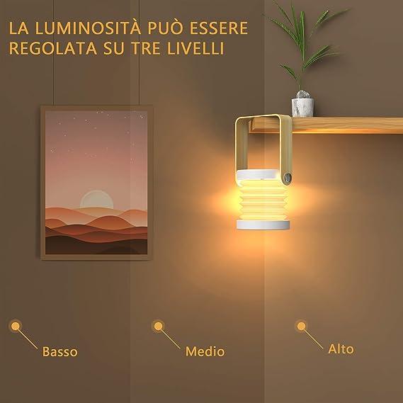 Blanc Chaude Zttopo Lampe Lecture Pliable Led Lampe Chevet