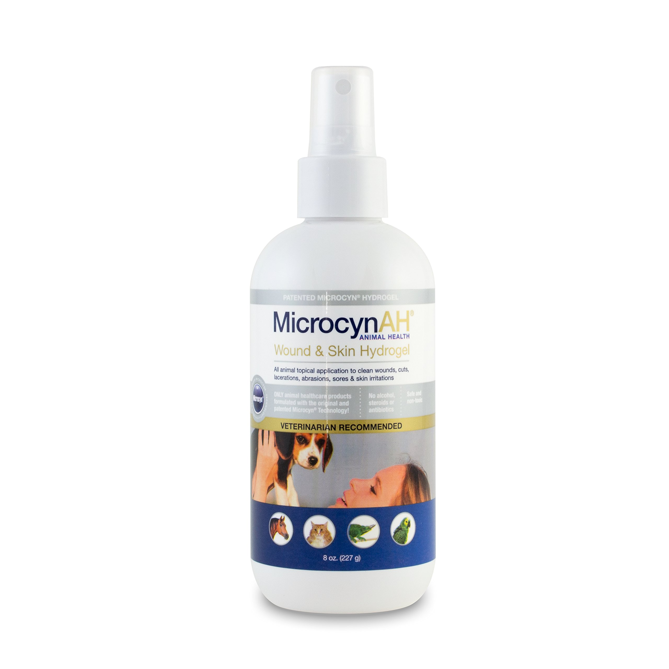 MicrocynAH Wound and Skin Care Sprayable Hydrogel, 8-Ounce by MicrocynAH (Image #1)