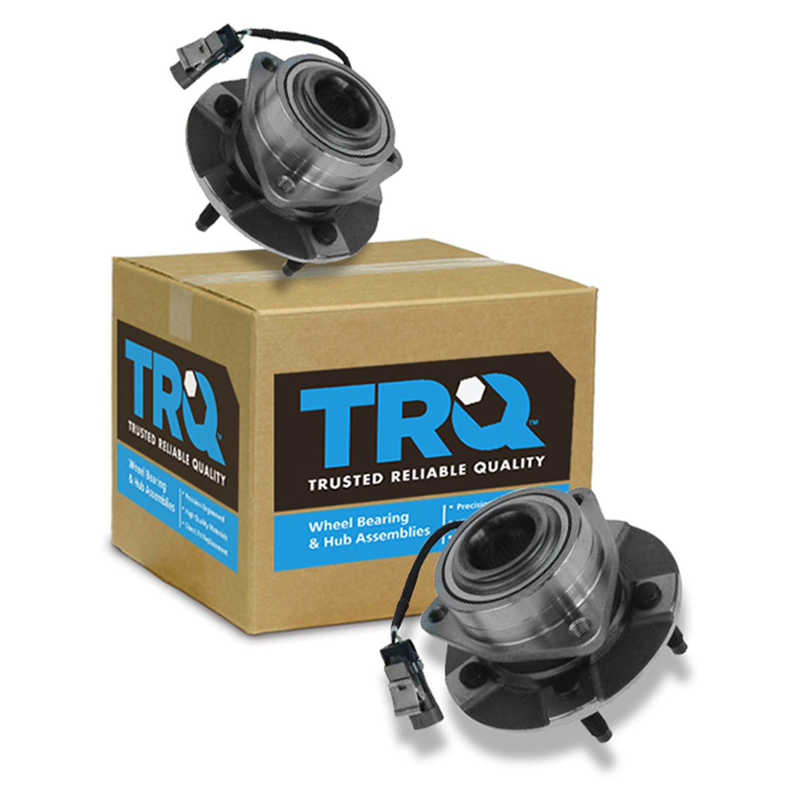 TRQ Front Wheel Hub & Bearing Assembly Pair for Equinox Torrent Vue w/ABS by TRQ