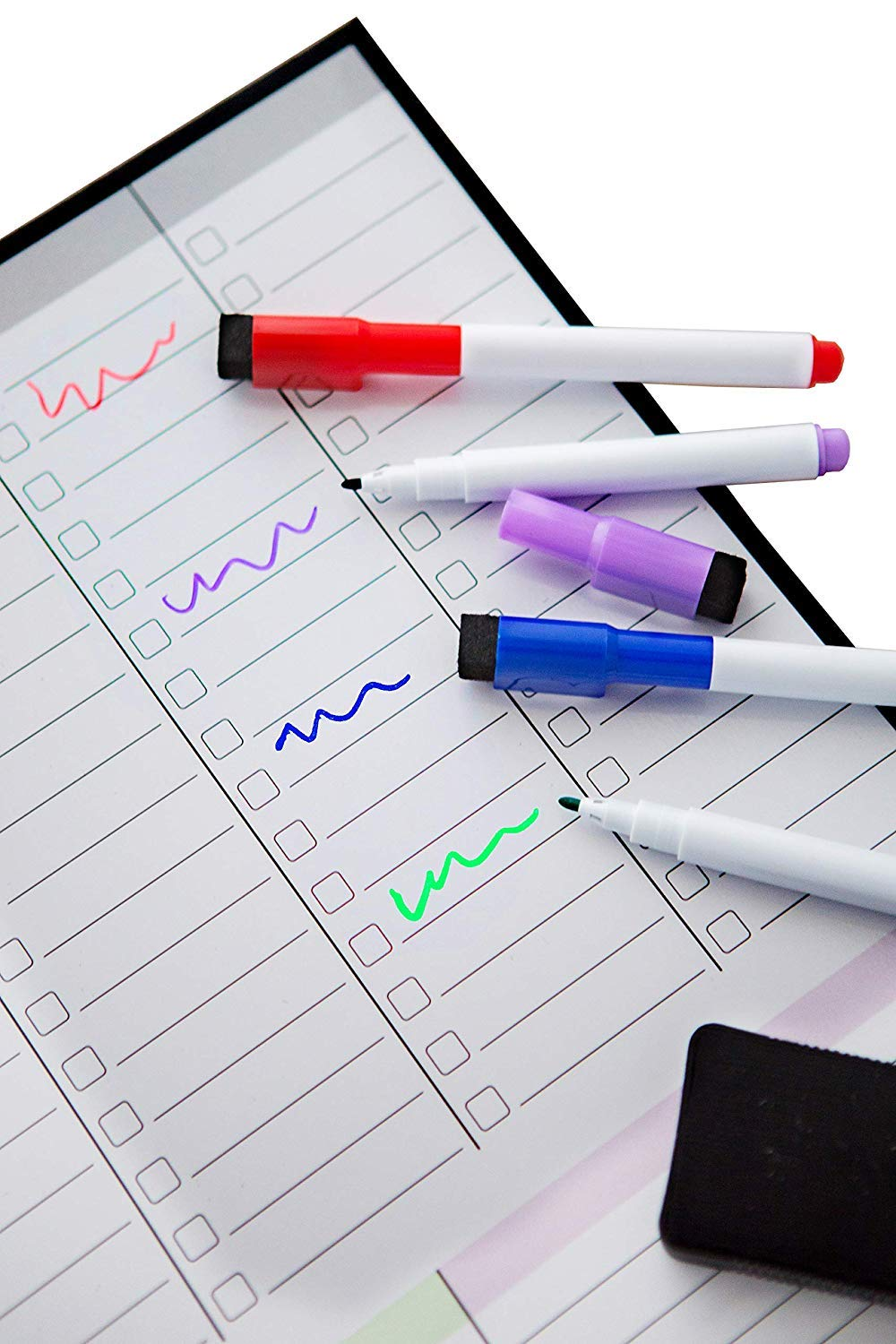 Magnetic Weekly Planner Fridge Whiteboard Family Planner Get organised to Reduce Stress in Your Life Weekly Meal Planner