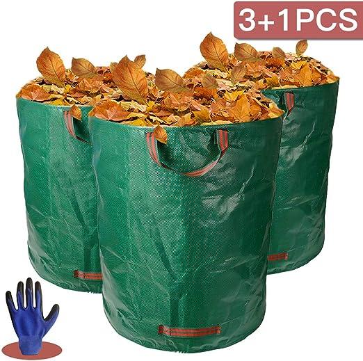 Kit de 3 bolsas de residuos de jardín grandes plegables de 272 l ...