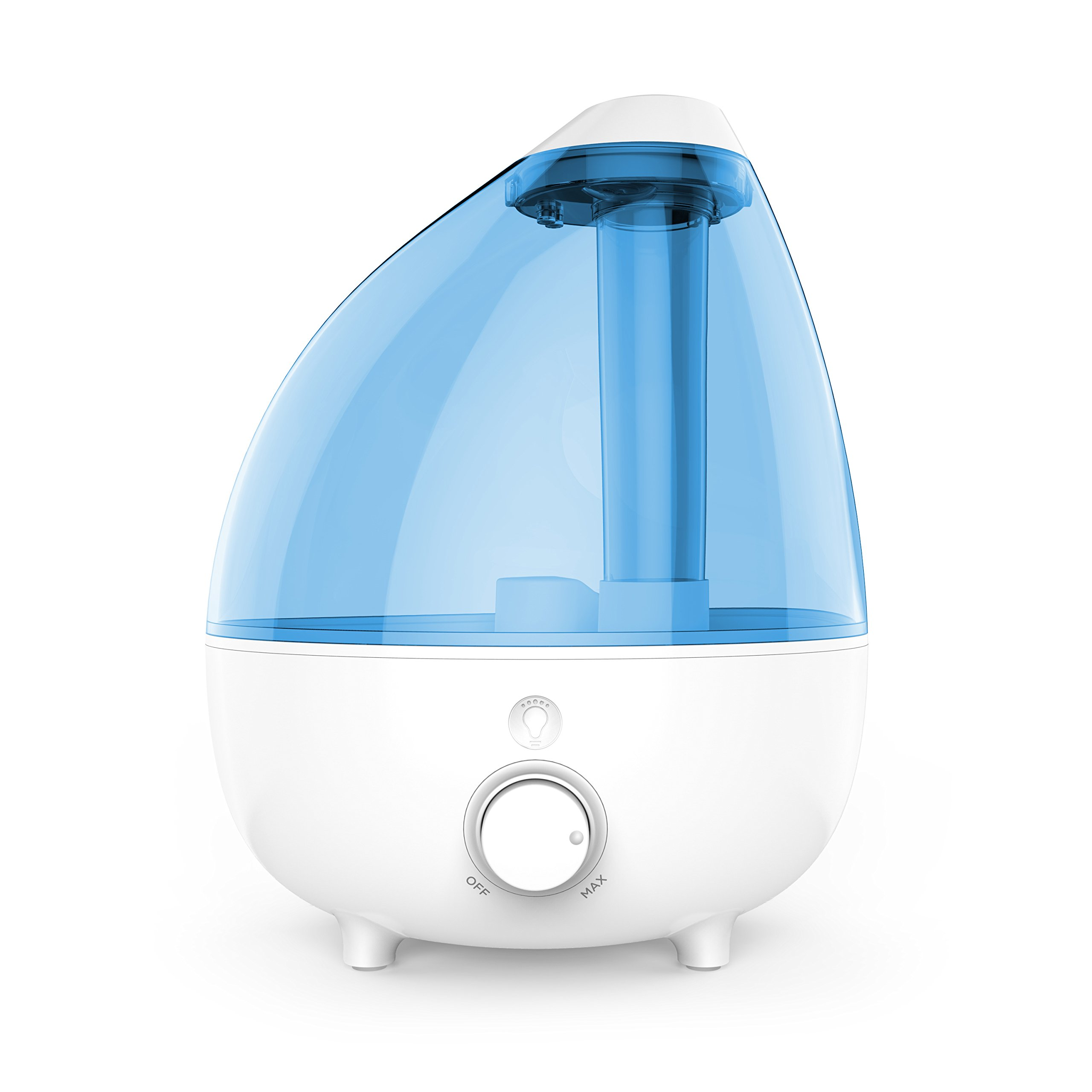 MistAire XL Ultrasonic Cool Mist Humidifier for Large Rooms – 1-Gallon Water Tank with Variable Mist Control, Automatic Shut-Off, and Soft Night Light Options by Pure Enrichment
