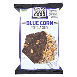 Food Should Taste Good Blue Corn Tortilla Chips, 5.5 Ounce -- 12 per case.