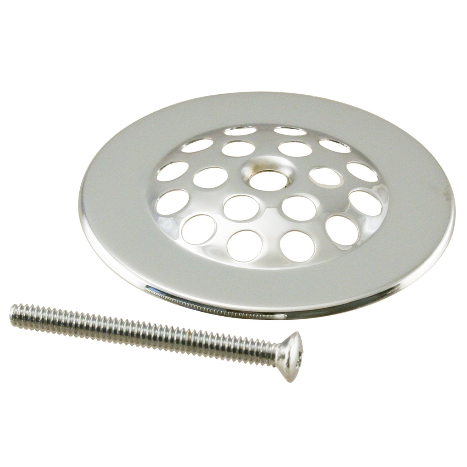 Westbrass Gerber Style Bee-HiveTub Strainer Grid with Screw, Polished Nickel, D327-05 by Westbrass