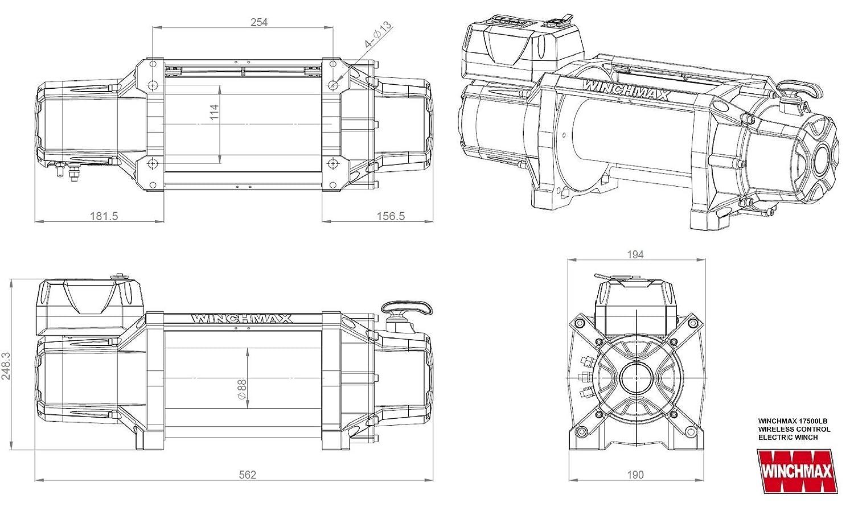 electric winch 12v recovery 4x4 17500 lb winchmax brand wireless rh amazon co uk Doorbell Wiring Wiring- Diagram