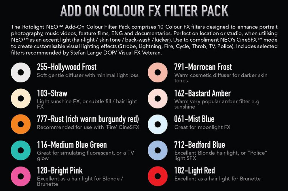 Rotolight Add-On Color FX Filter Pack for NEO by ROTOLIGHT (Image #3)