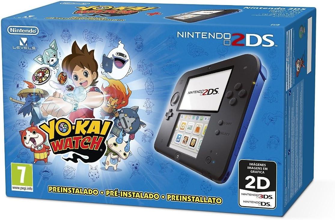 Nintendo 2DS - Consola, Color Azul + Yo-Kai Watch (Preinstalado ...