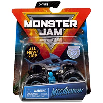 MJ New 2020 Monster JAM 1:64 Scale Megalodon: Toys & Games