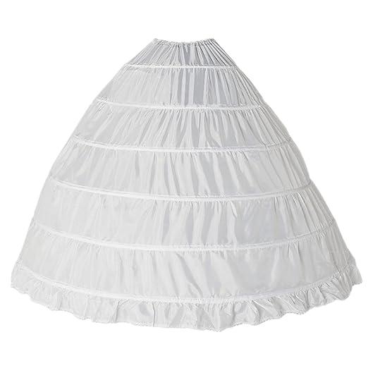 9c8e523b6b6a3 Edress Ball Gown 1 Tier Floor Length Wedding Dress Petticoats and Slips ( White)