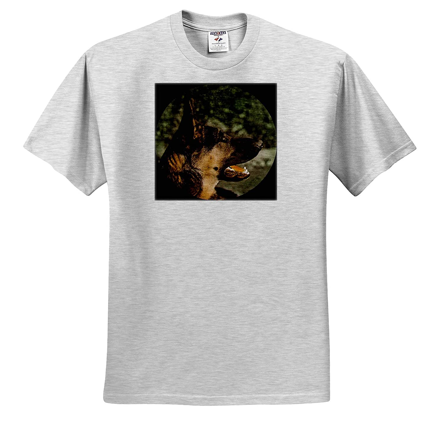 T-Shirts 3dRose Scenes from The Past Magic Lantern Vintage Magic Latern Slide Portrait of an Alsatian Dog Circa 1910