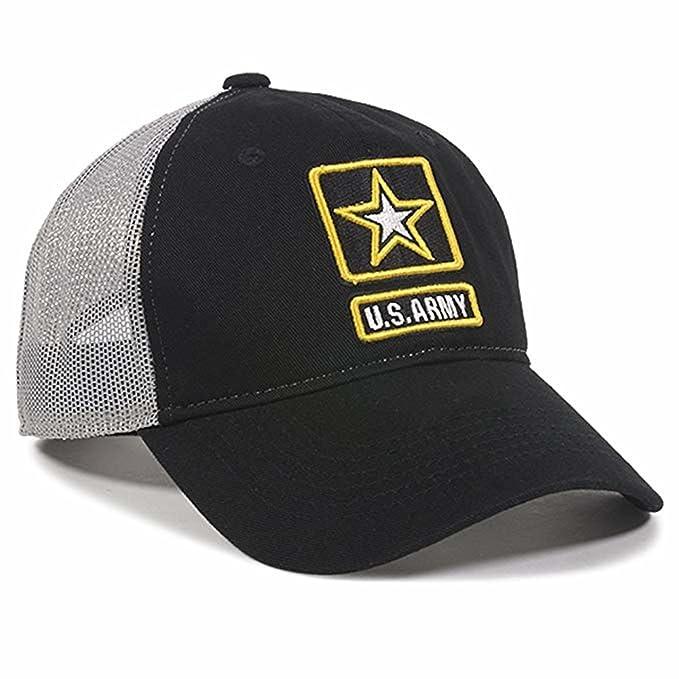 dae4fa673757f Amazon.com: Outdoor Caps US Army Hat Adult Mesh Back Cap Navy/Grey ...