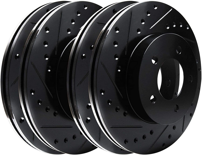 Fit 2010-2016 Hyundai Genesis Coupe PowerSport Full Kit Drill//Slot Brake Rotors