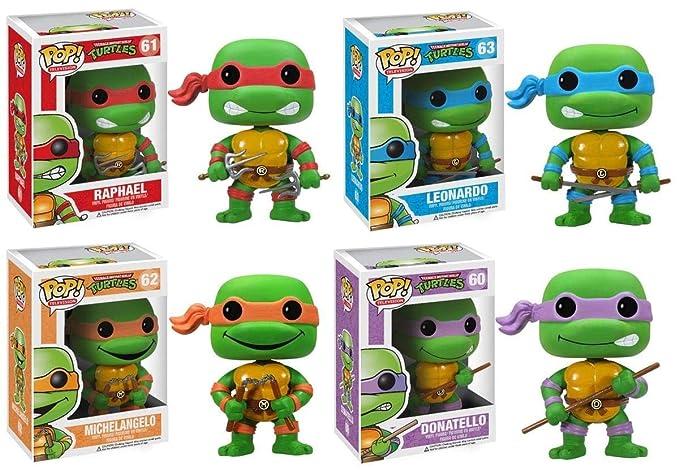 Funko PoP Teenage Mutant Ninja Turtles Figure Set Of 4 ...