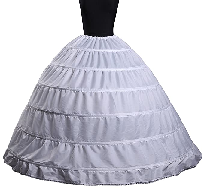 Victorian Lingerie – Underwear, Petticoat, Bloomers, Chemise Women 6 Hoops Crinoline Petticoats Slips Underskirt Floor Length for Bridal Gown $21.99 AT vintagedancer.com