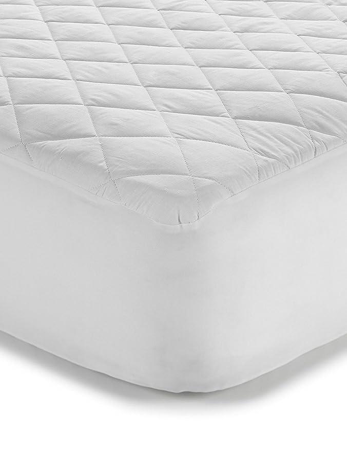 Classic Linen Protector de colchón antialergénico - acolchado de algodón-poliéster - 180 x 200 cm: Amazon.es: Hogar