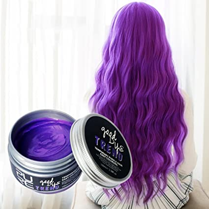 – Tinte para el cabello Mode Lavado Bar 7 colores color del pelo pomaden Cera barro Colorante Styling Crema desechables DIY Matte duradera cabello ...