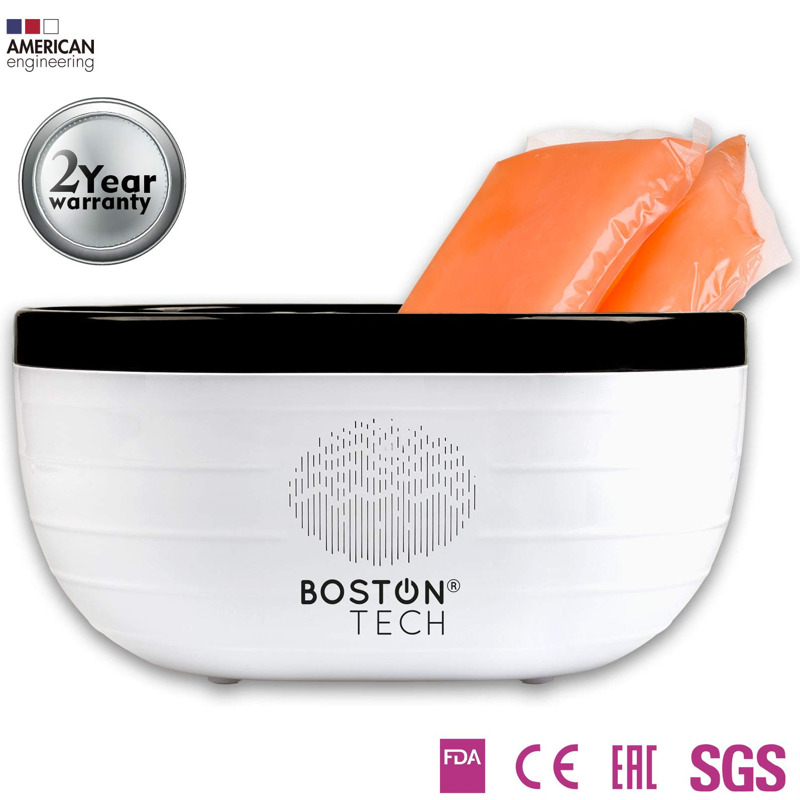 Boston Technology We-101 - Paraffin Wax Warmer Machine For Hands And Feet. Paraffin Bath Used For skin care and Thermotherapy. Helps Relieve Muscle Pain, Rheumatoid Arthritis, Stiff Muscles and Edema by Boston Tech