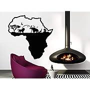 African Safari Wall Decal African Map Vinyl Stickers Animals Housewares Art Interior Nursery Bedroom Removable Home Decor C553