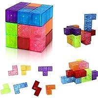 Welltop Juguetes magnéticos Cubos mágicos para niños Bloques
